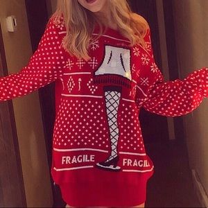 Sweaters - CHRISTMAS STORY sweater! Lights up.